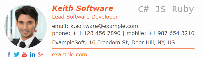 Email Signature for Graduate Student New Email Signature for A software Developer Develop Pro Email Conversations