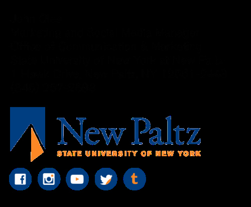 Email Signature for Recent Graduate Beautiful Suny New Paltz Fice Of Munication & Marketing
