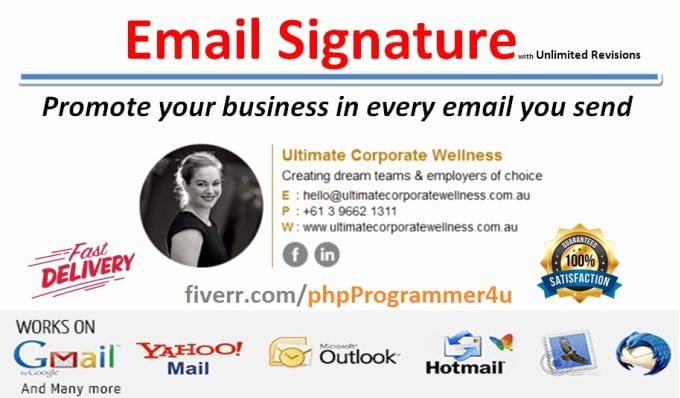 Email Signature for Recent Graduate Best Of Create Clickable Email Signature by PHPprogrammer4u