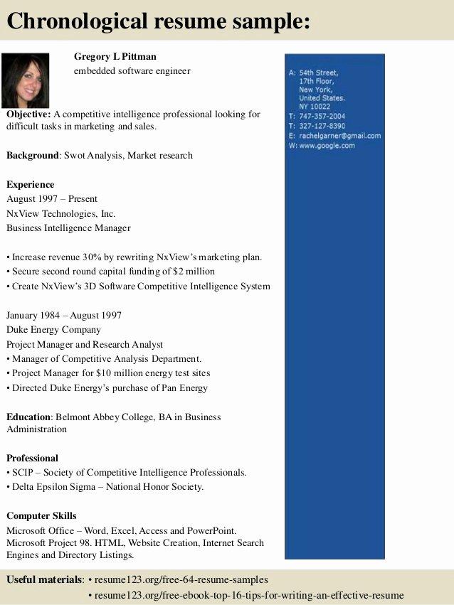 Embedded software Engineer Resume Fresh top 8 Embedded software Engineer Resume Samples