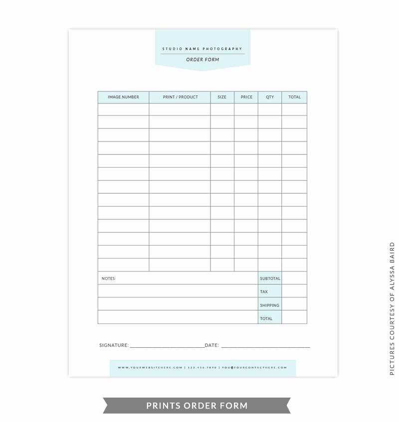 Embroidery order form Template New 8 5x11 Prints order form Template
