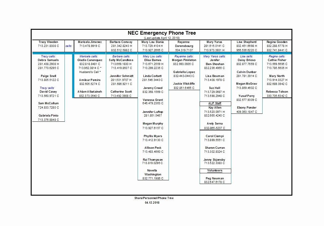 Emergency Phone Tree Template Inspirational 50 Free Phone Tree Templates Ms Word & Excel Template Lab
