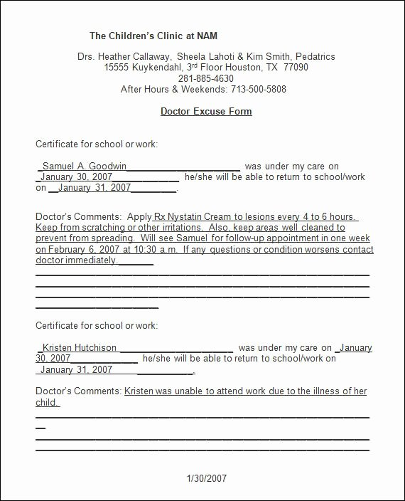 Emergency Room Discharge Papers Elegant Sample Doctor Note 30 Free Documents In Pdf Word Fake Doctors Note In 2019