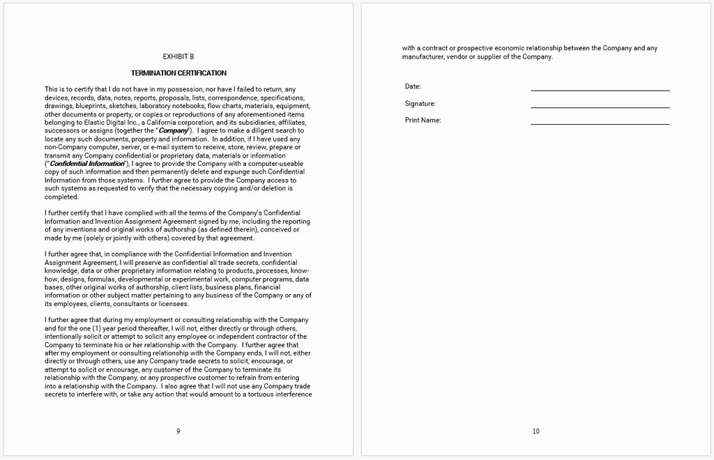 Employee Confidentiality Agreement Template Elegant Employee Confidentiality Agreement Template – Starters