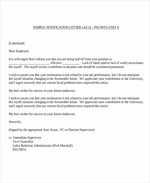 Employee Termination form Pdf Beautiful 9 Sample Employee Termination Letters Word Pdf Pages