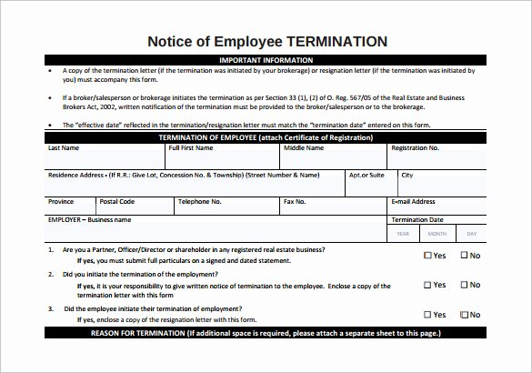 Employee Termination form Pdf Beautiful Letters Of Notice 8 Download Free Documents In Word Pdf