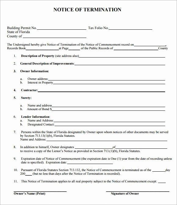 Employee Termination form Pdf New Sample Termination Notice 6 Documents In Pdf Word