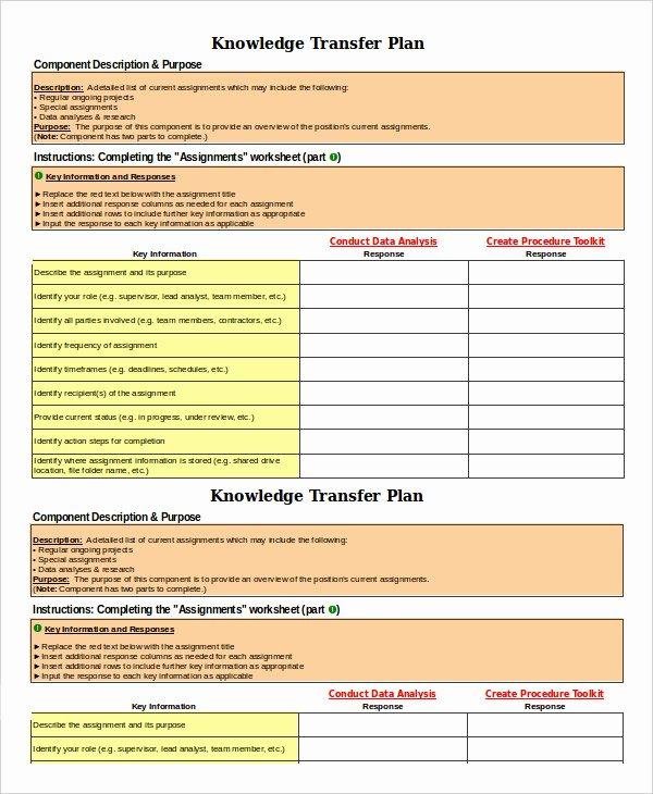 Employee Transition Plan Template Inspirational 8 Transition Plan Templates Word Pdf