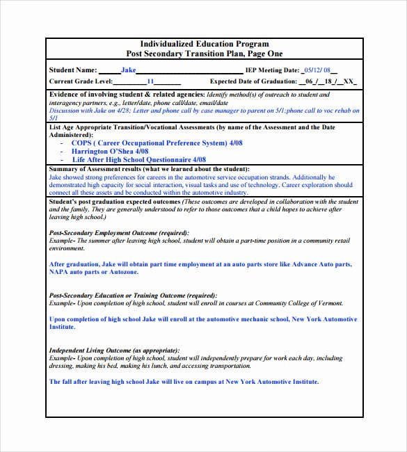 Employee Transition Plan Template Lovely Resume Education Part
