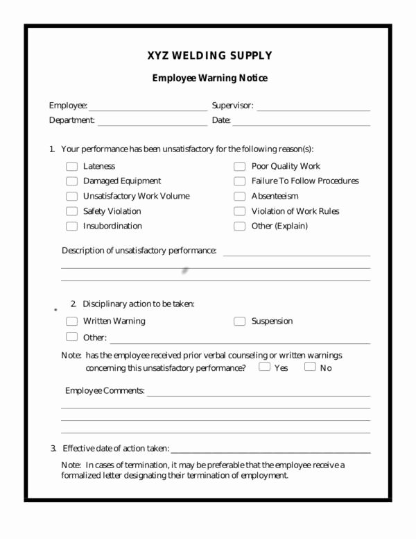 Employee Warning Notice form Inspirational 12 Effective Employee Management Strategy Samples