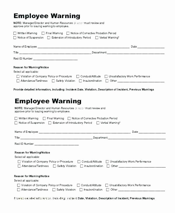 Employee Warning Notice Template Word New Warning Notice form – Scsllc