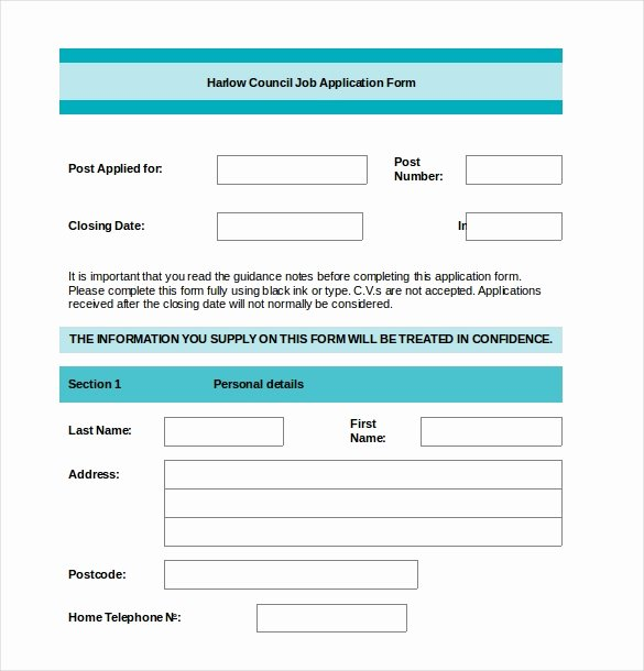 Employment Application form Doc Elegant Application form Template 18 Free Word Pdf Documents