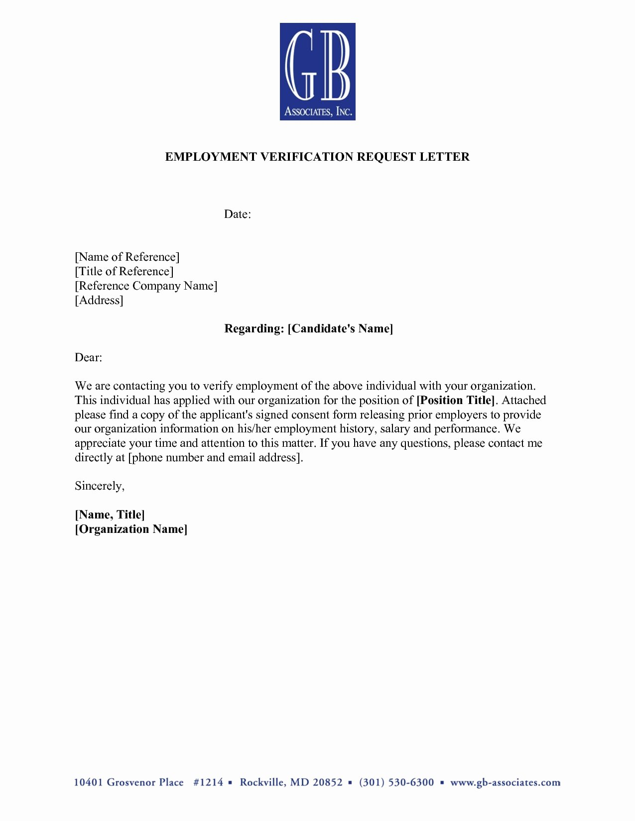 Employment Verification Letter for Immigration Beautiful 9 Verification Of Employment Letter Examples Pdf
