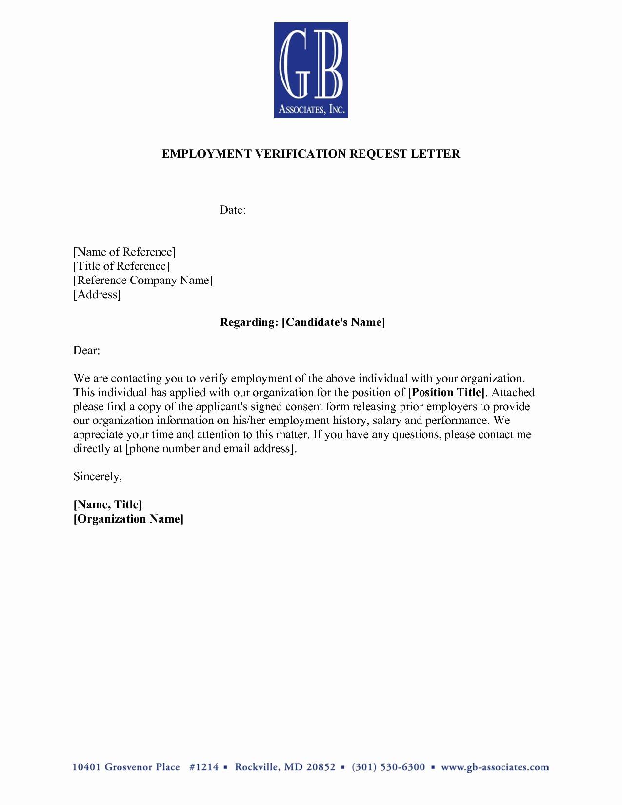 Employment Verification Letter for Immigration Beautiful 9 Verification Of Employment Letter Examples Pdf