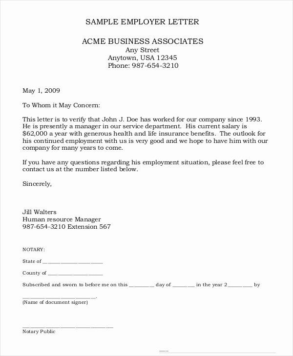 Employment Verification Letter for Immigration Fresh 11 Employee Verification Letter Examples Pdf Word