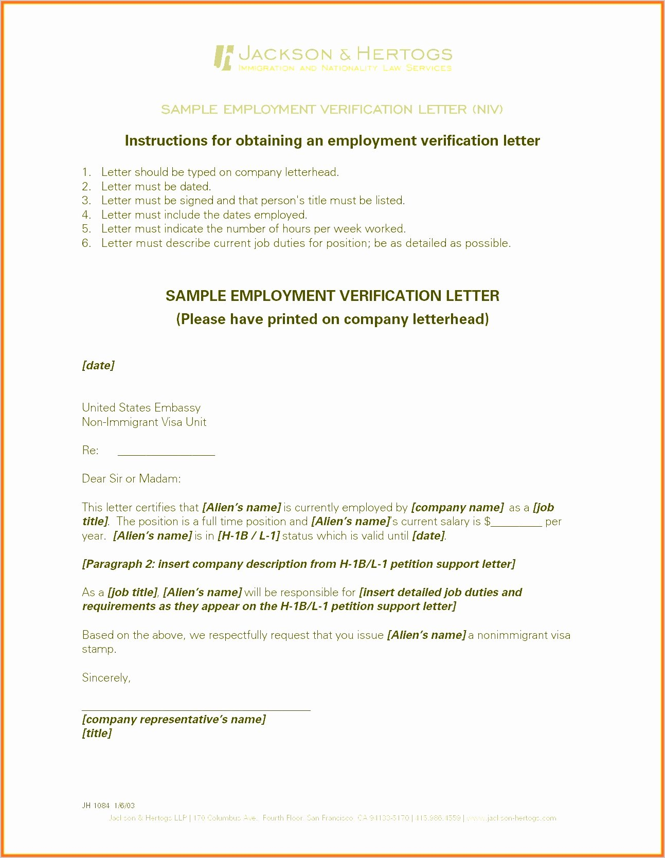 Employment Verification Letter for Immigration Inspirational 10 Employment Verification Letter Sample for Immigration Sampletemplatez