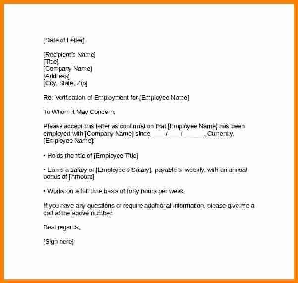 Employment Verification Letter for Immigration Inspirational 7 Employment Verification Letter for Visa