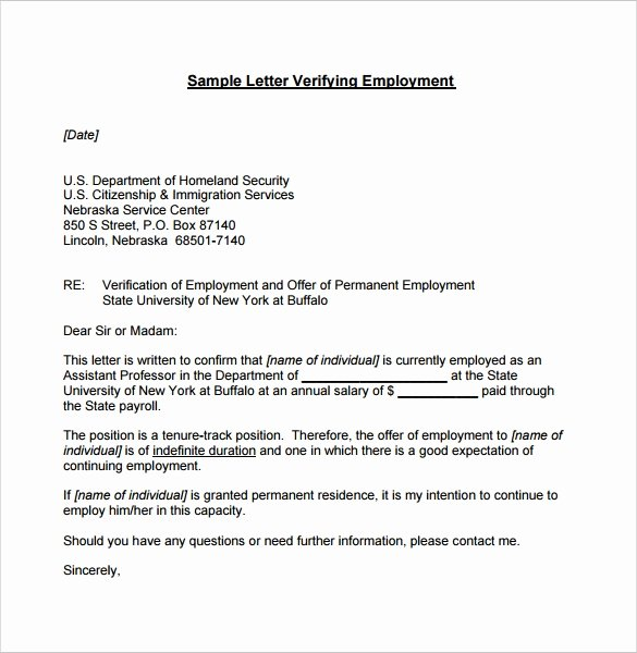 Employment Verification Letter for Immigration Inspirational Employment Verification Letter 14 Download Free Documents In Pdf Word
