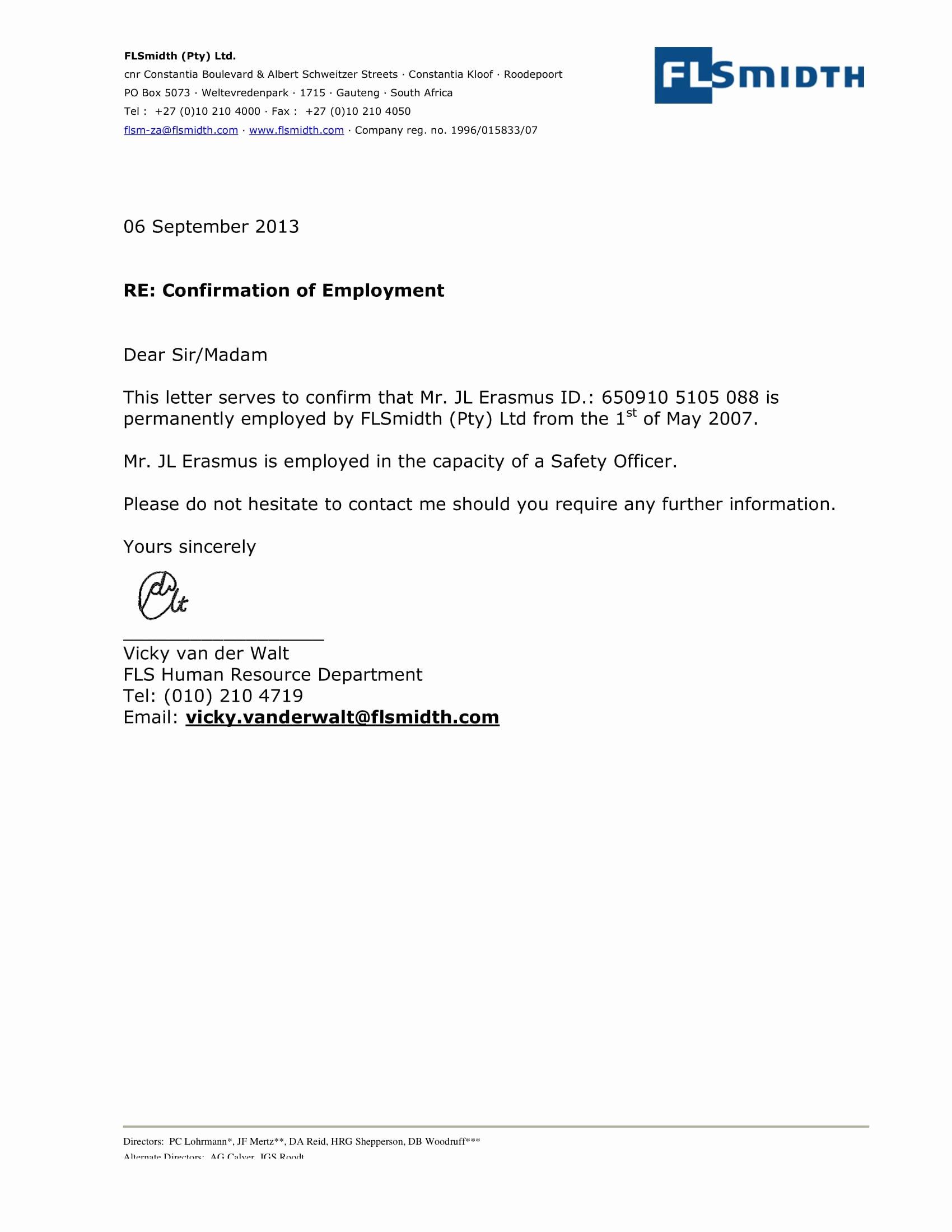 Employment Verification Letter for Immigration Lovely 29 Verification Letter Examples Pdf