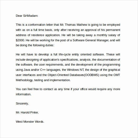 Employment Verification Letter for Immigration New Employment Verification Letter 14 Download Free Documents In Pdf Word