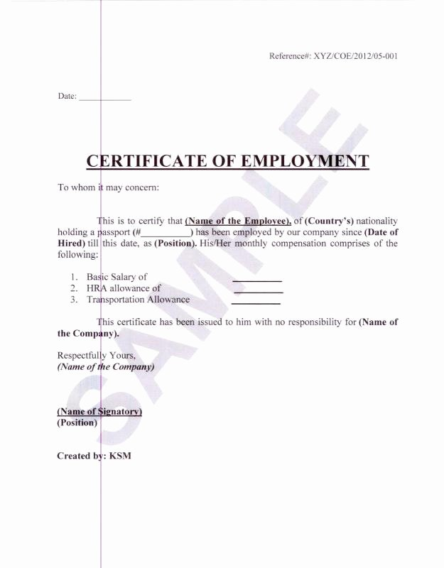 Employment Verification Letter for Visa Inspirational Employment Verification Letter for Visa