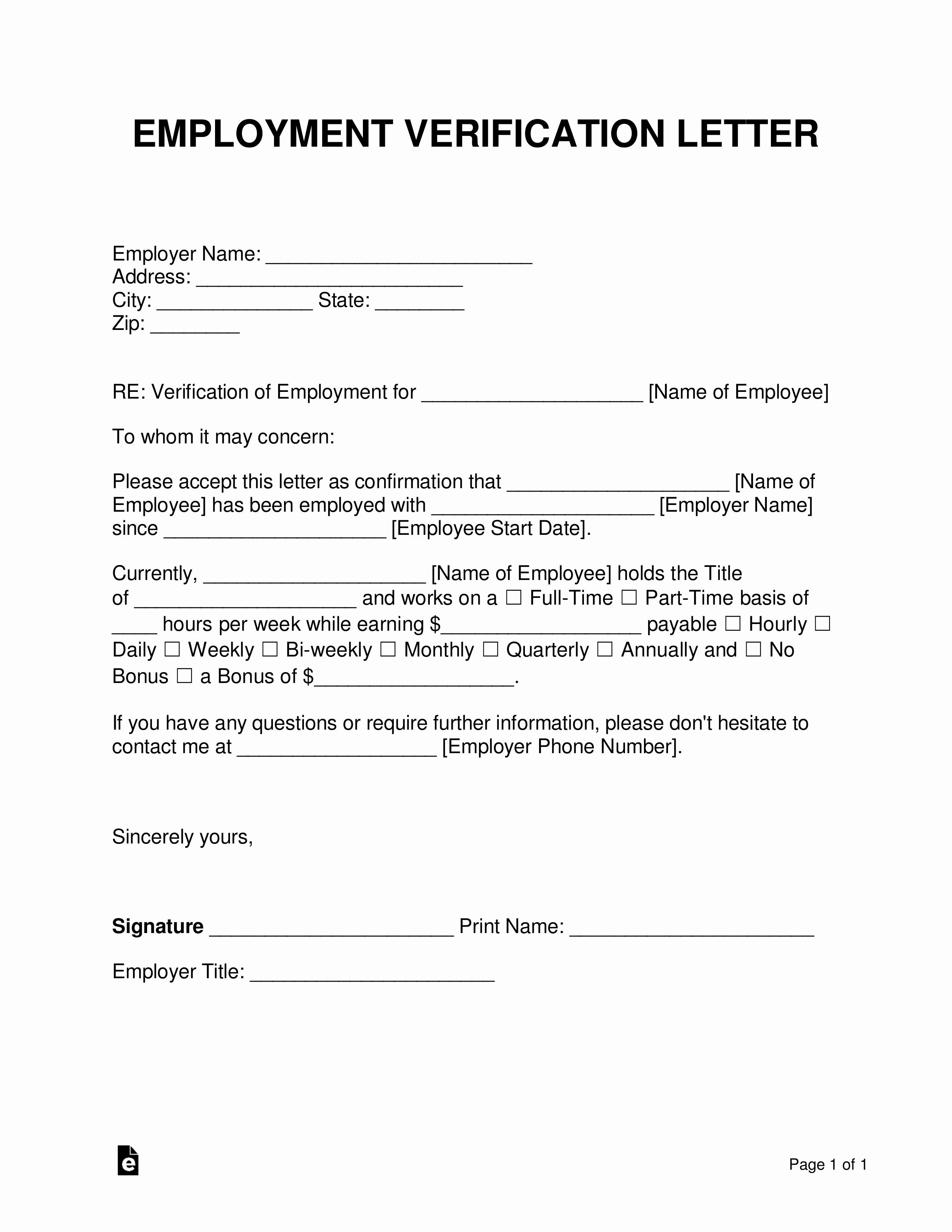 Employment Verification Release form Elegant Free Employment In E Verification Letter Pdf