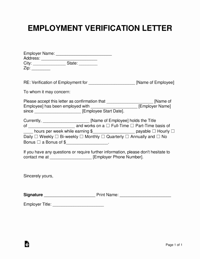 Employment Verification Request form Awesome Free Employment In E Verification Letter Pdf Word