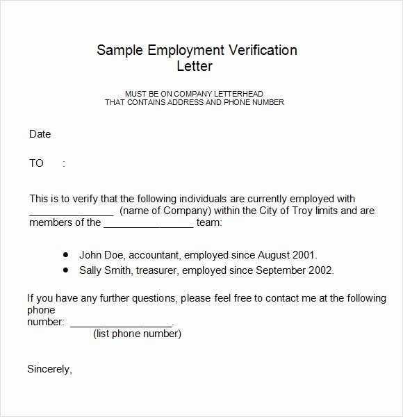 Employment Verification Request form Luxury Employment Verification Letter 14 Download Free Documents In Pdf Word