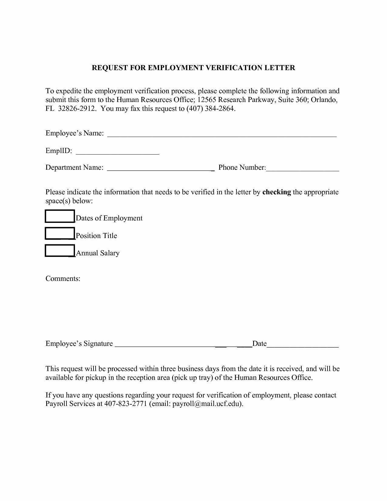 Employment Verification Request form Luxury top 10 Employment Verification Letter form & Template Daily Roabox
