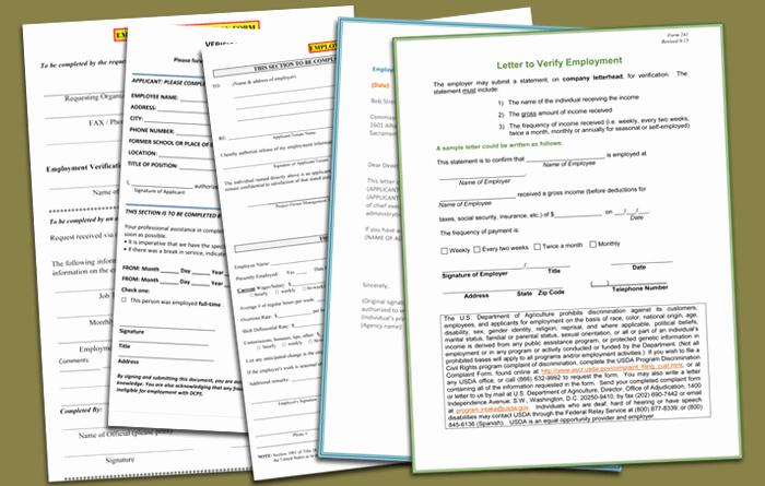 Employment Verification Request form Unique 5 Employment Verification form Templates to Hire Best Employee