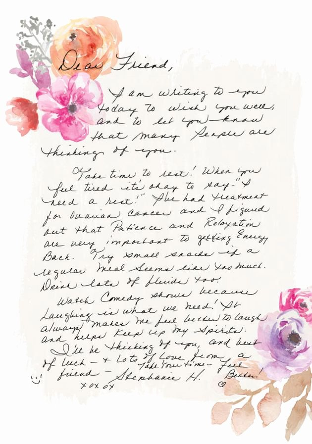 Encouragement Letter to A Friend Awesome Cancer Survivor Collects 80 000 Handwritten Letters Love for Other Women with Breast Cancer