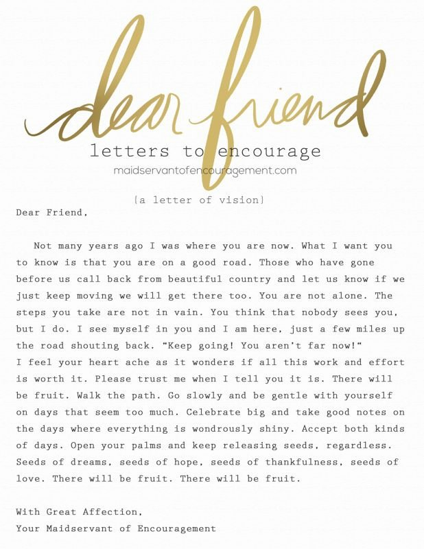 Encouragement Letter to A Friend Beautiful 52 Best Images About Maidservant Of Encouragement On Pinterest