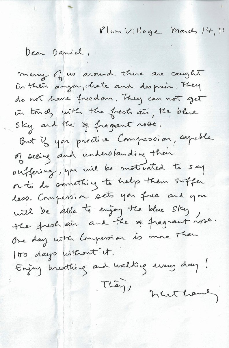 Encouragement Letter to A Friend Fresh Thich Nhat Hanh Letter to A Prisoner – Plum Village