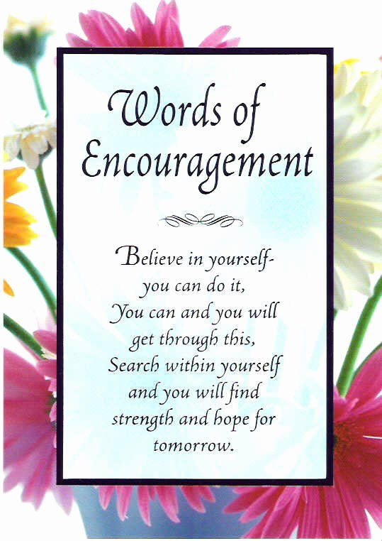 Encouragement Letter to A Friend Inspirational Words Of Encouragement