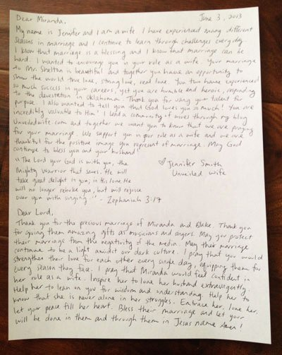 Encouragement Letters to A Friend Best Of Encouraging Letter to Miranda Lambert