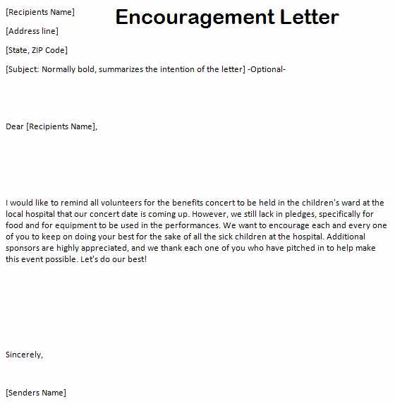 Encouraging Letters to A Friend Elegant 10 Sample Encouragement Letters Sample Letters Word