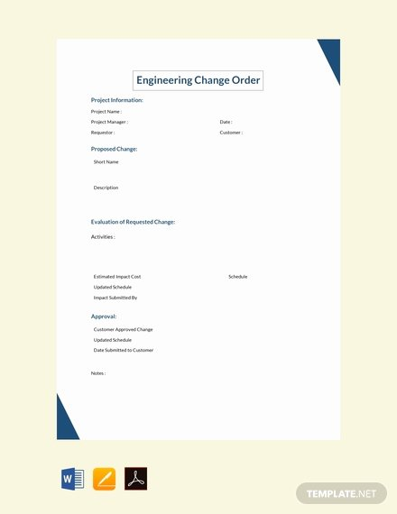 Engineering Change order Template Beautiful Free Change order Request Summary Template Download 49 order Templates In Word Excel Pdf