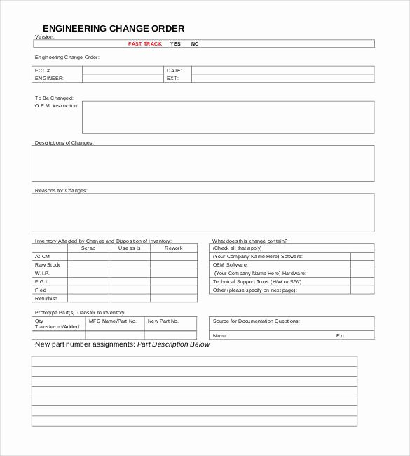 Engineering Change order Template Best Of 24 Change order Templates Word Pdf Google Docs