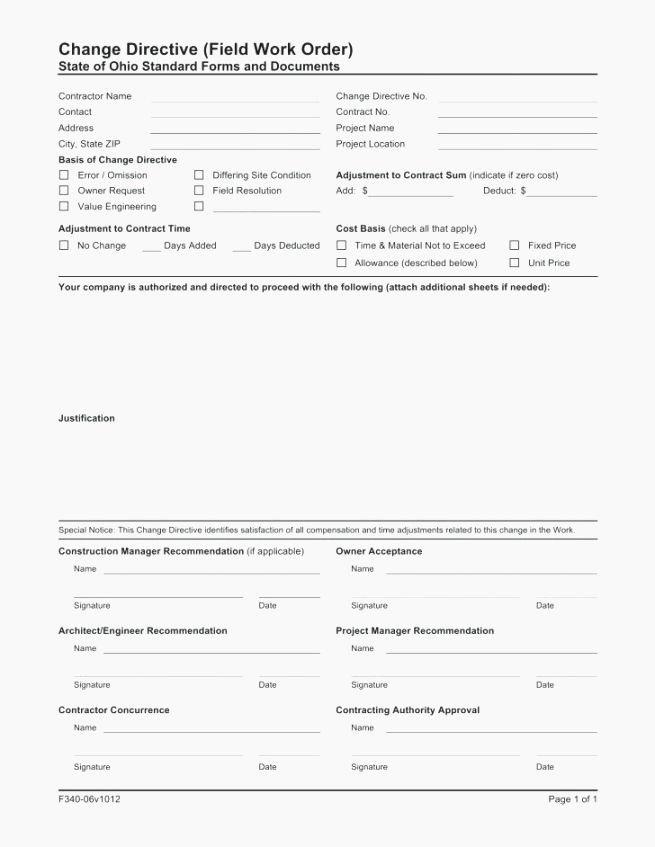 Engineering Change order Template Best Of Best 42 Inventive Free Printable Work order Template
