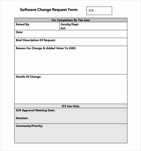 Engineering Change order Template Lovely Sample Change Request Template 9 Free Documents In Pdf Word