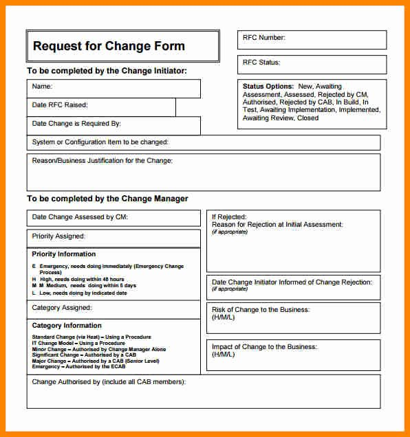 Engineering Change order Template Unique Engineering Change order Template