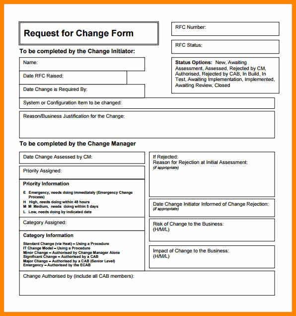 Engineering Change order Template Unique Engineering Change order Template