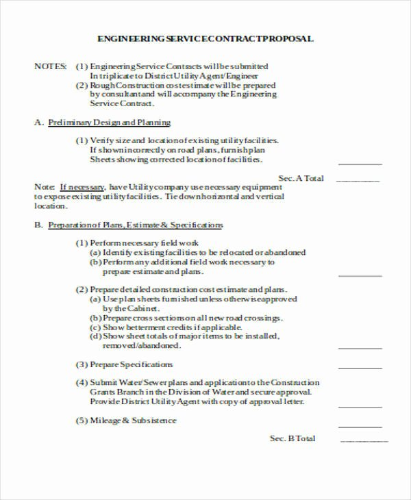 Engineering Project Proposal Template New Engineering Proposal Templates 8 Free Documents In Word Pdf