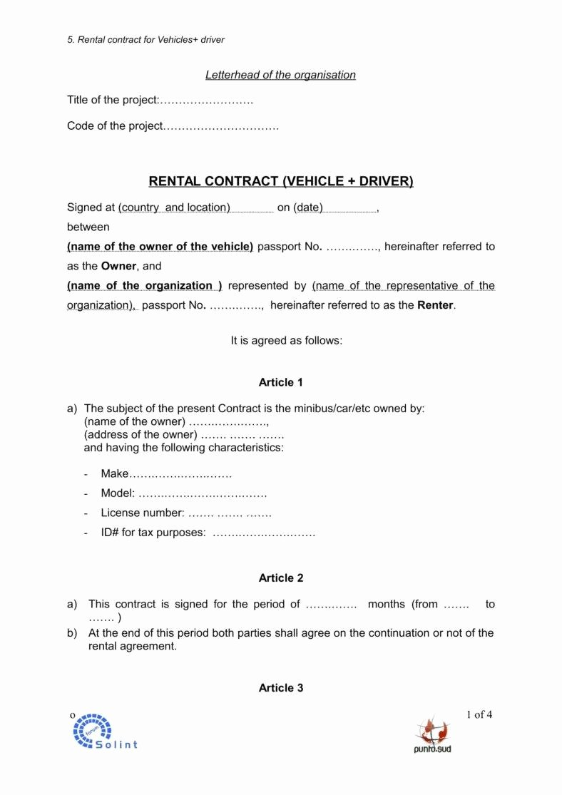 Enterprise Car Rental Agreement Pdf Awesome 5 Car Rental Agreement Templates In Word