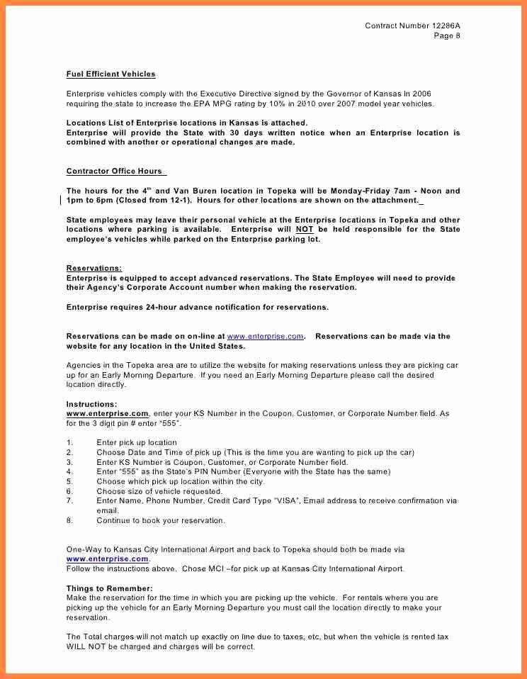 Enterprise Car Rental Agreement Pdf Beautiful 12 Enterprise Car Rental Agreement Contract