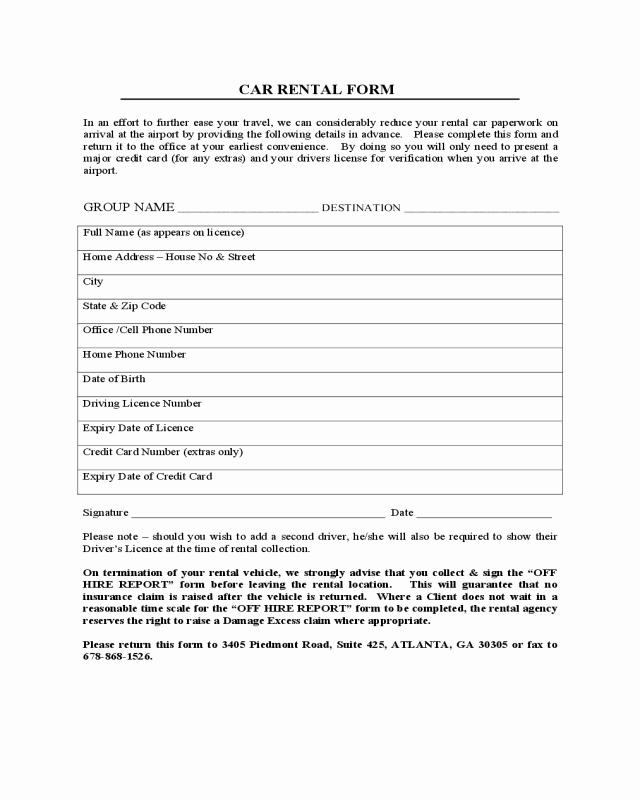Enterprise Car Rental Agreement Pdf Elegant 2019 Car Lease form Fillable Printable Pdf & forms