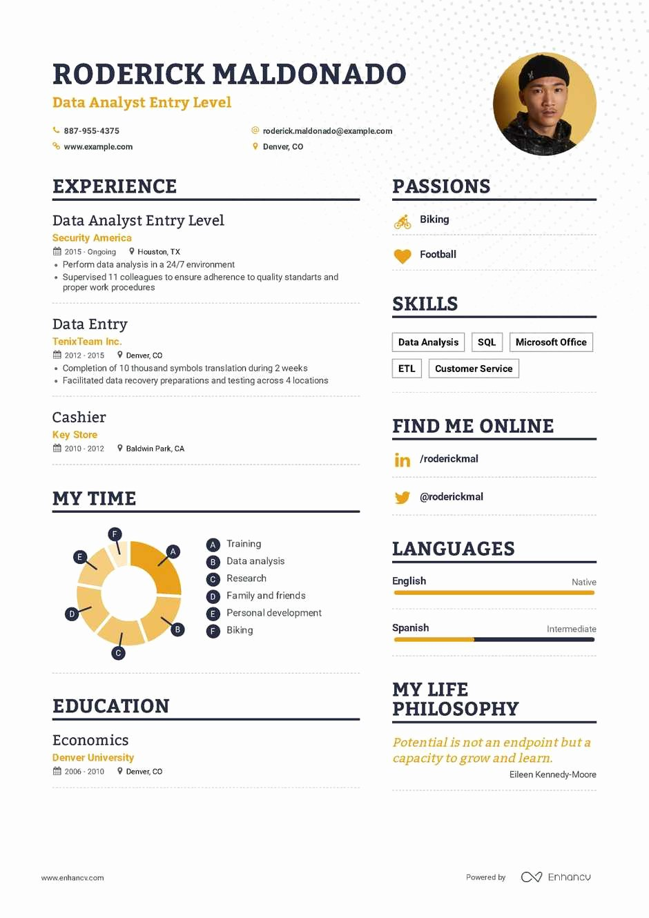 Entry Level Business Analyst Resume Luxury Data Analyst Entry Level Resume Example and Guide for 2019