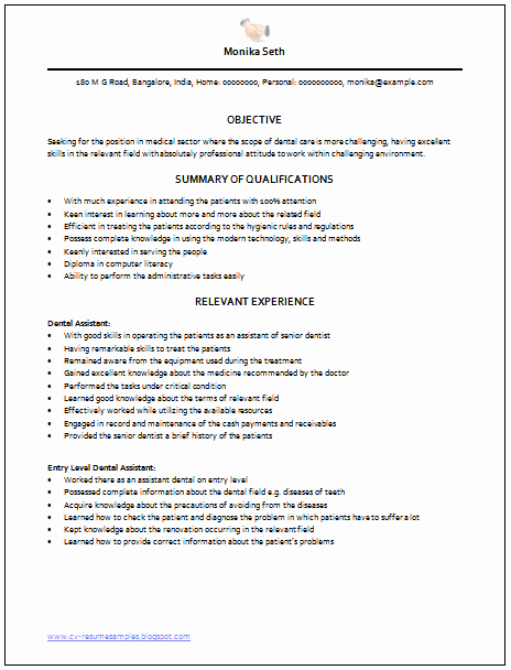 Entry Level Dental assistant Resume Inspirational Over Cv and Resume Samples with Free Download Medical assistant Resume Sample