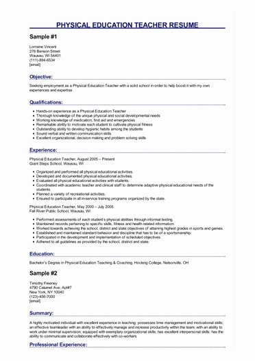 Entry Level Dietitian Resume Inspirational Physical Education Teacher Resume