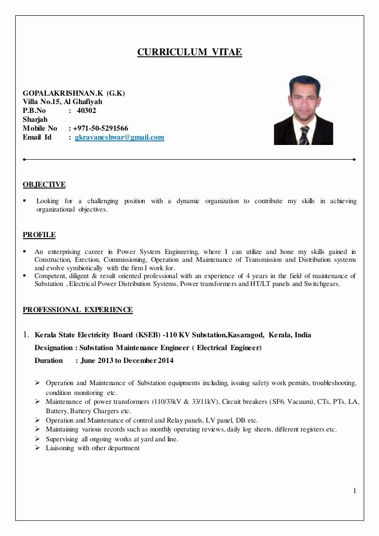 Entry Level Electrical Engineer Resume Best Of Electrical Engineer Cv